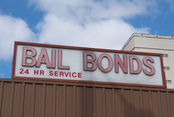 Bail Bonds sign on top of building